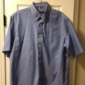 Nautica Short Sleeve Button Striped XL Men's Shirt